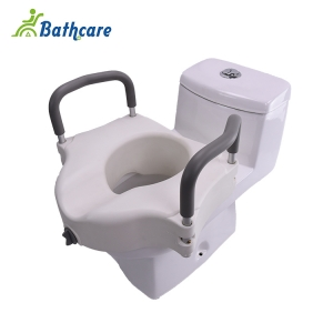 Deluxe Raised Toilet Seat With Arms